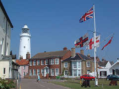 St James Green and Southwold Lighthouse